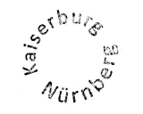 Turistické razítko - Hrad Norimberk (Německo)